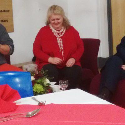 'An evening with':  Charlie Hodson, Sarah Daniels, and Steve Thorpe.