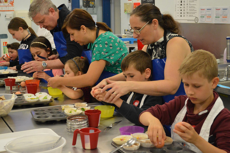 Make, bake, and take on family day